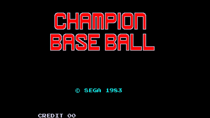 Coin Toss: Champion Baseball (SEGA, 1983)